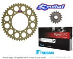 STANDARD GEARING: Renthal Sprockets and GOLD Tsubaki Sigma X-Ring Chain - BMW S1000RR (2015-2017)